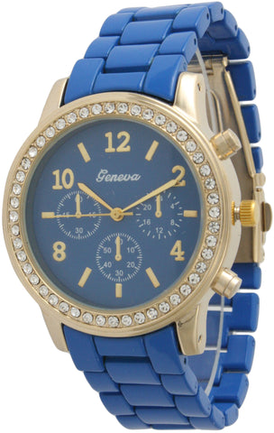Colorful Small Boyfriend Watch Rhinestone Bezel