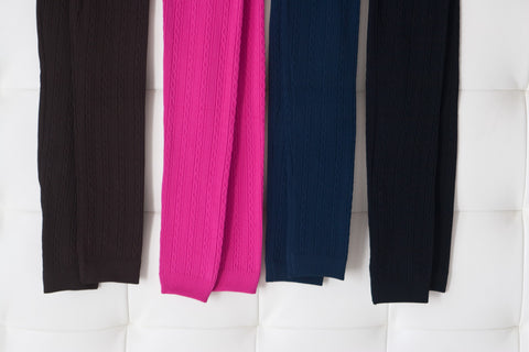 Fleece Solid and Cable Knit Leggings
