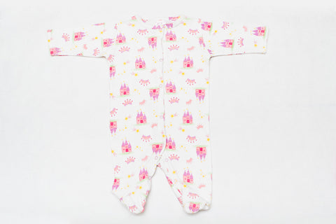 Super Cute One Piece Sleeper - Princess Castle Print!