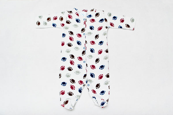 Super Cute One Piece Sleeper - Football Print!