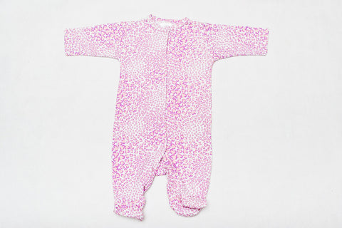Super Cute One Piece Sleeper - Pink Heart Animal Print!