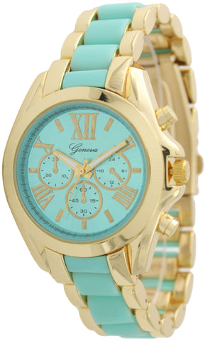 Two Tone Colored Boyfriend Watch