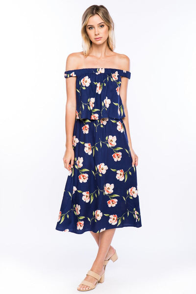 Olivia Pratt Off the Shoulder Floral Dress