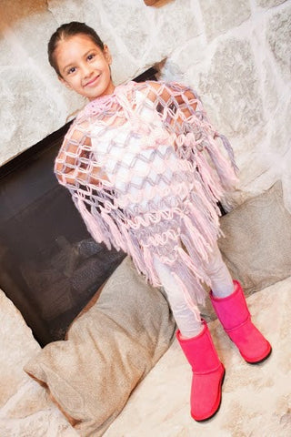 Adorable Kids Knit Poncho