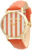 Candy Striped Leather Band Watch