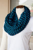 Two-Tone Knitted Infinity Scarf