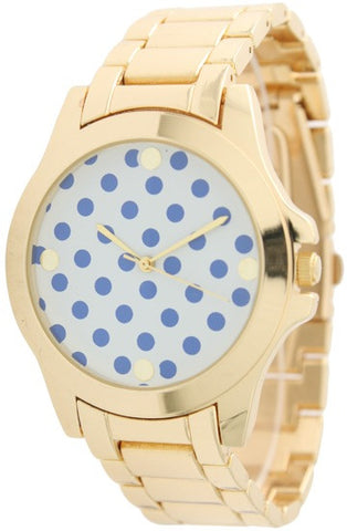 Boyfriend Watch with Polka Dot Printed Face