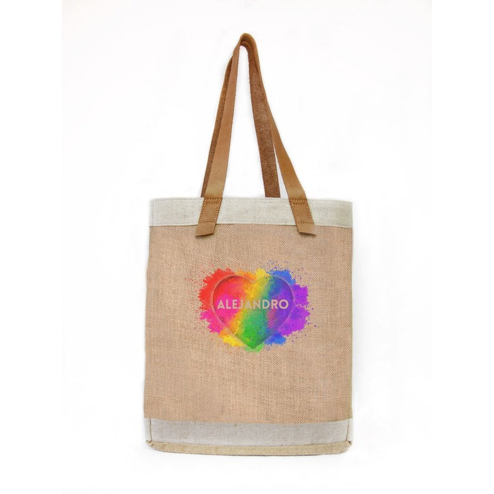Ed. Limitada LOVE IS LOVE BOLSO DE YUTE ASA LARGA