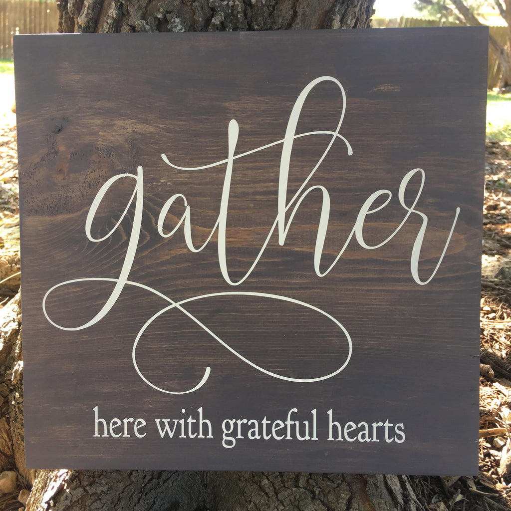 Sign Making with Gather To Create