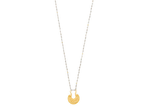 Love's Affect Indio Pendant Necklace - Half Circle