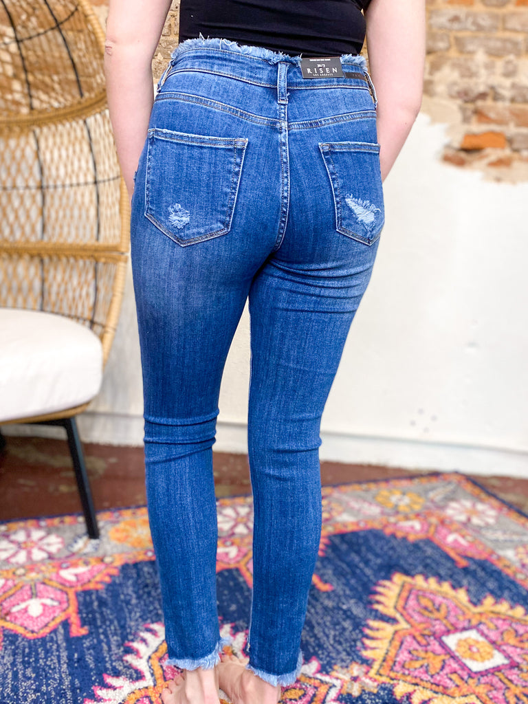 Frayed All The Way Skinny Jean
