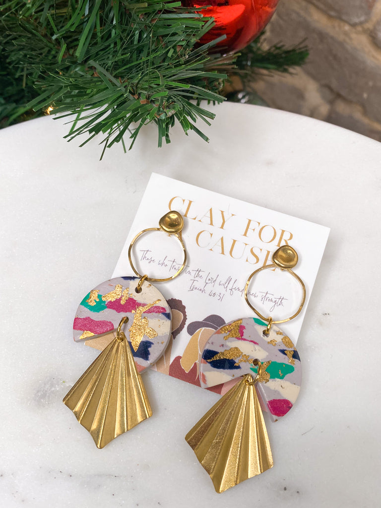 Clay For A Cause Blanche Earring