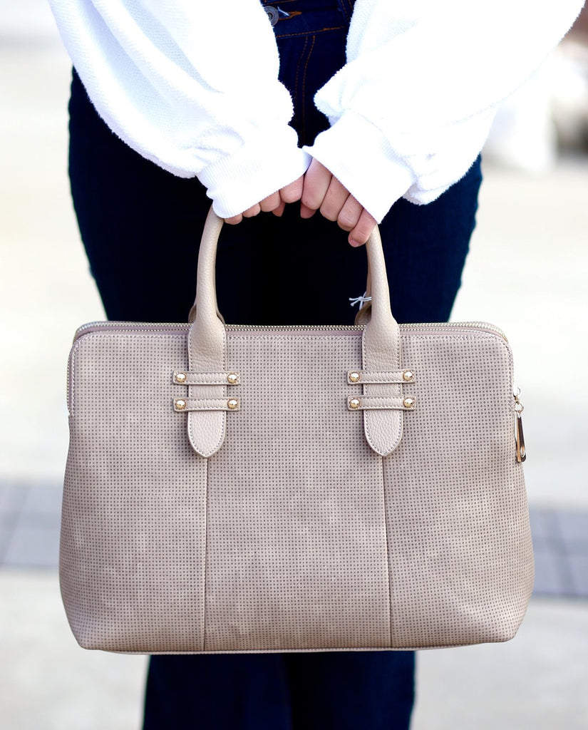 Milan Structured Bag: Taupe