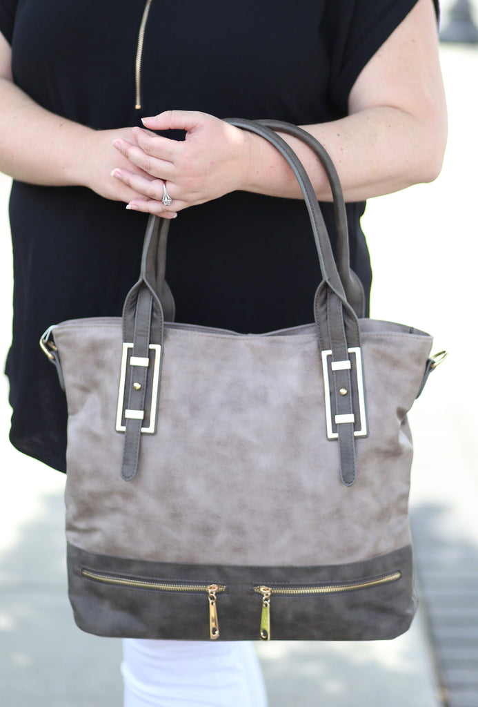 Remington Perforated Tote: Grey