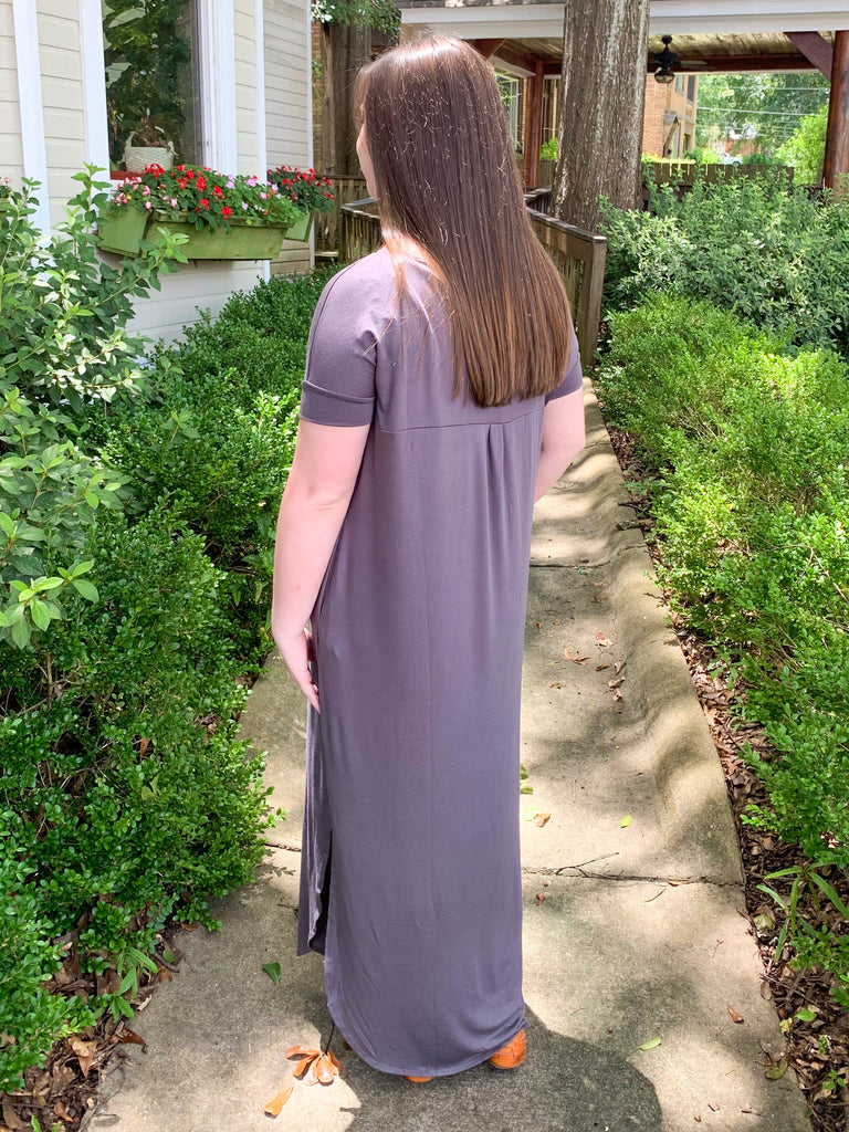 T-shirt Maxi Dress: Mid Gray