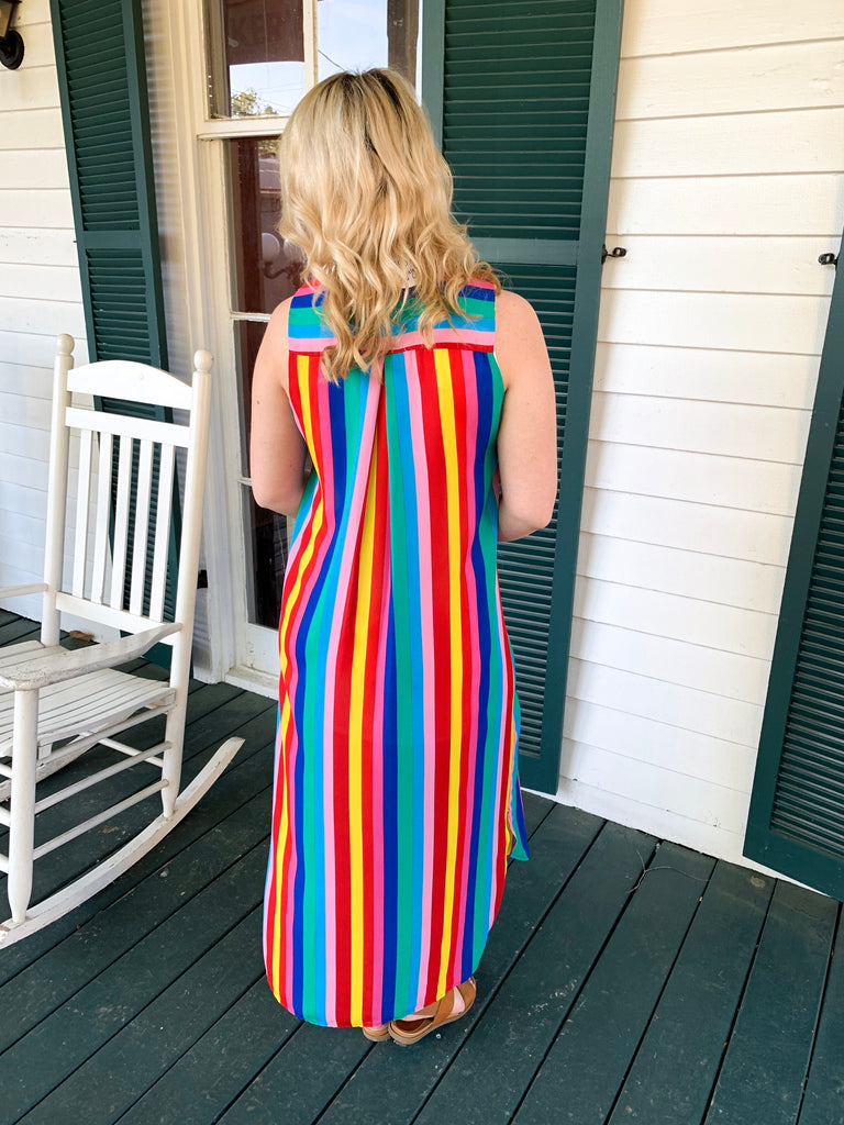 PLC Kendall Dress: Gumdrop Stripe