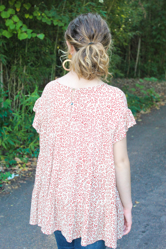 Fall Floral Tiered Top