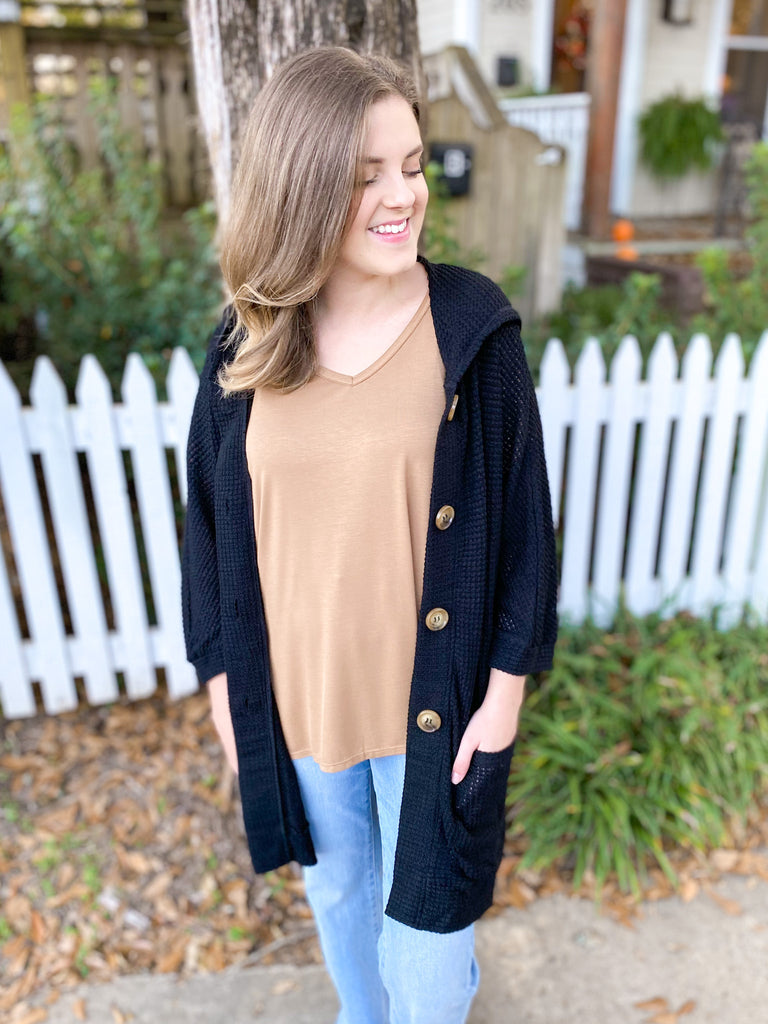 All About The Black Cardigan