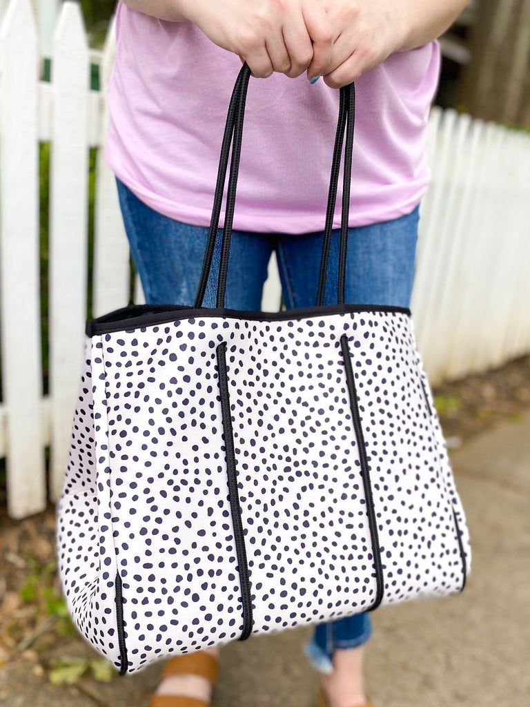 Allison Neoprene Tote: Black