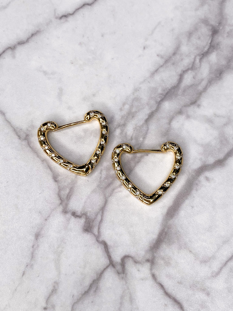 Jennifer Thames Heart Hoop Earrings