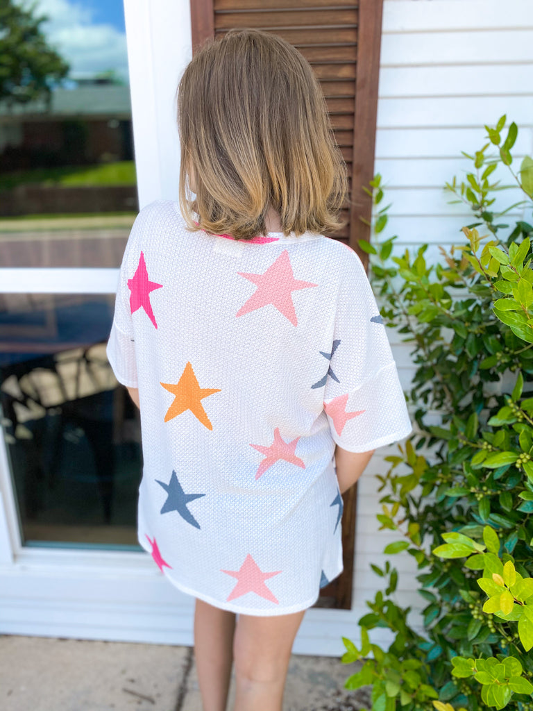 Split Neck Star Tee