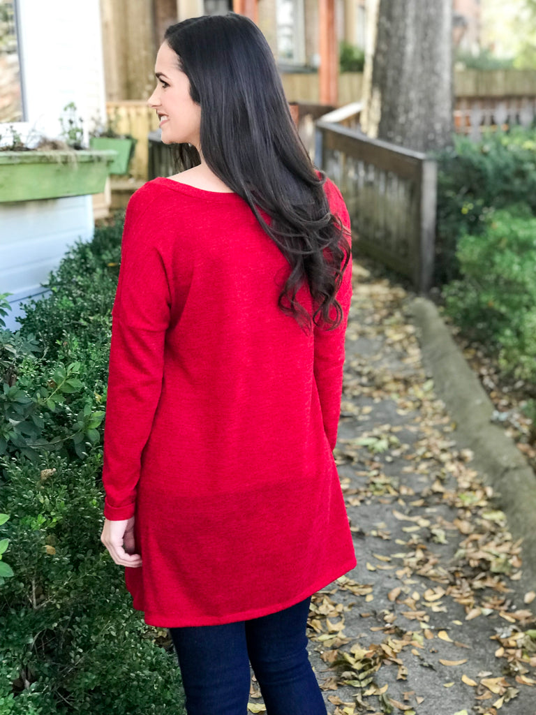 PLC Denver Sweater: Holiday Red