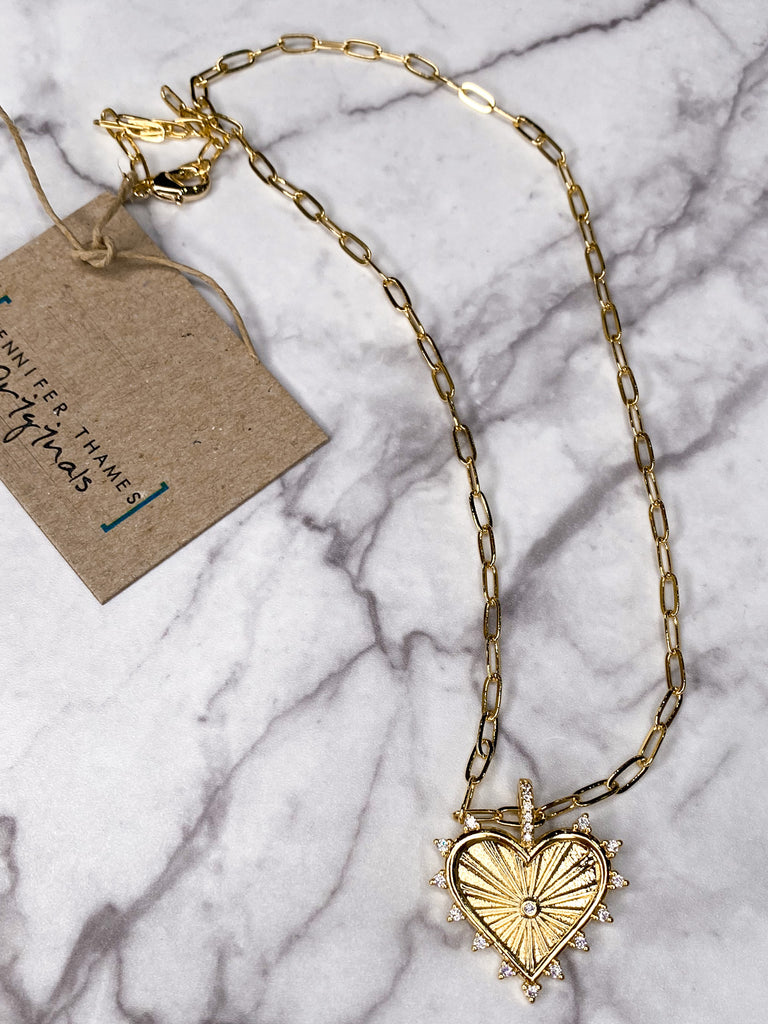 Jennifer Thames Short Heart Necklace