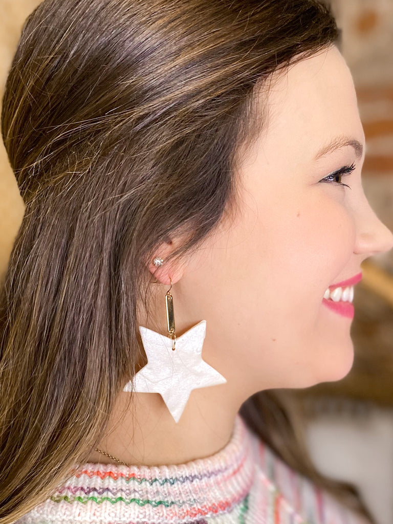 Chic'd Out Earrings: Ivory Star