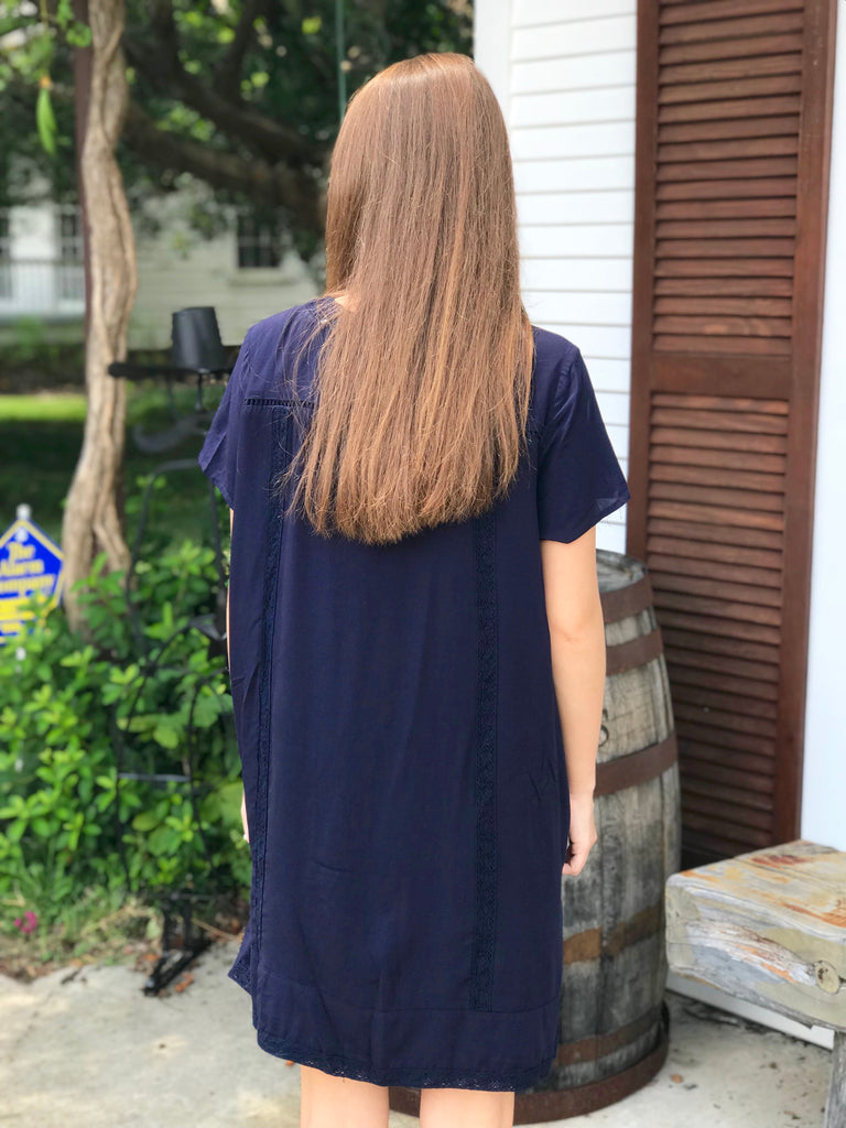 The Susa Shift Dress: Navy