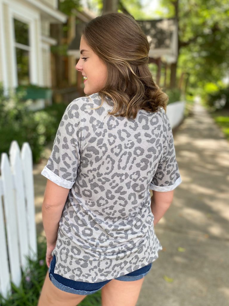 Monochromatic Leopard Top