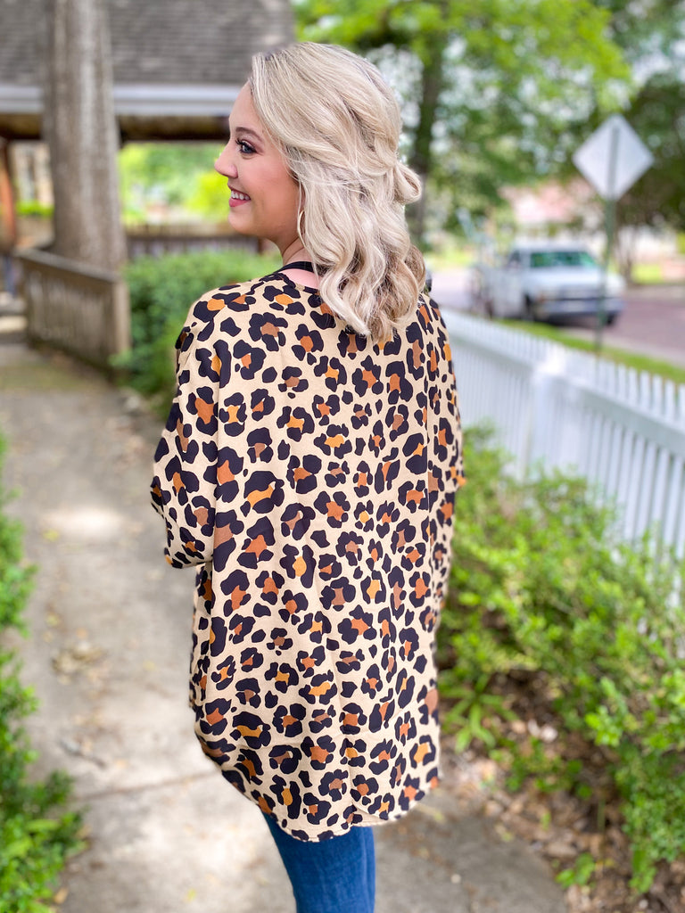 Tiki Bar Tunic: Leopard