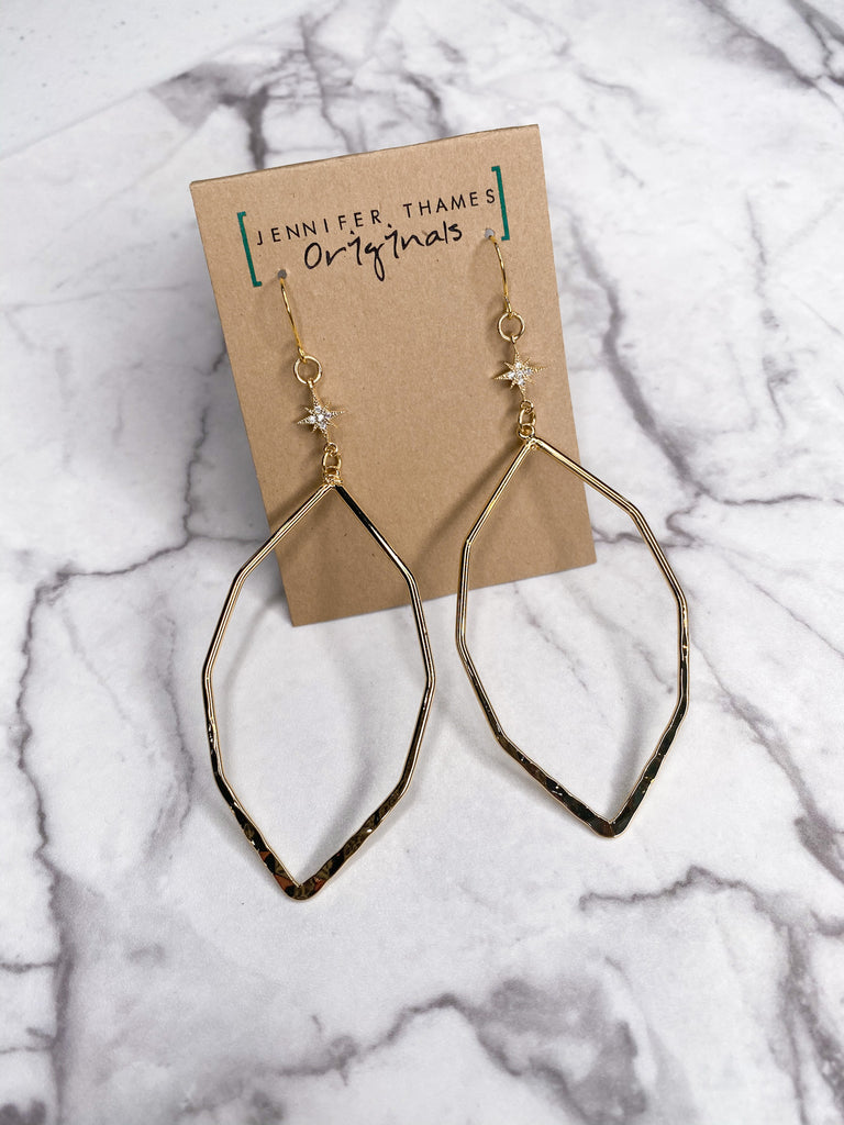 Jennifer Thames Oblong Hoop Earrings