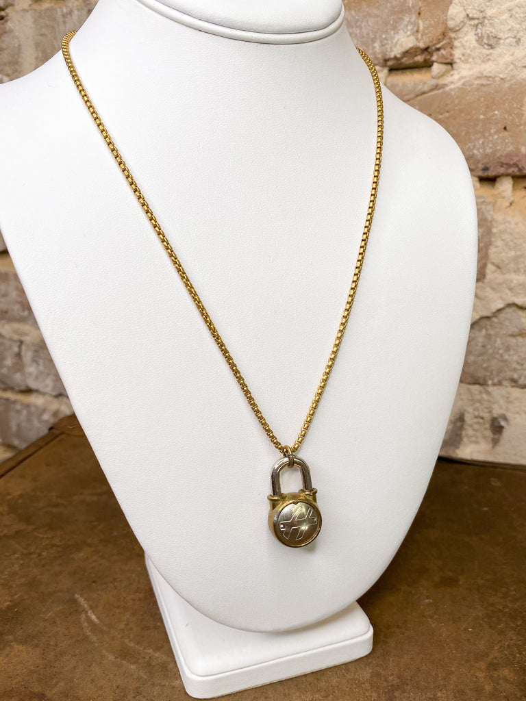 Groundwork Vintage Padlock Necklace
