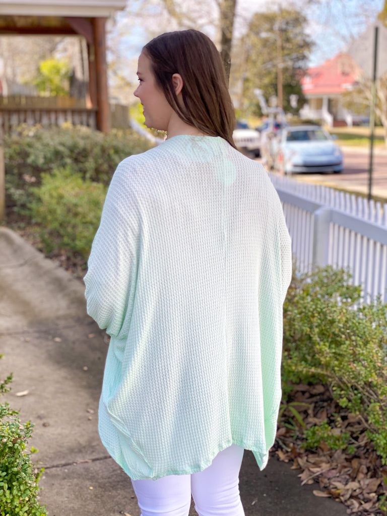 Peace Love Cake Cabin Fever Cardigan: Pastel Mint