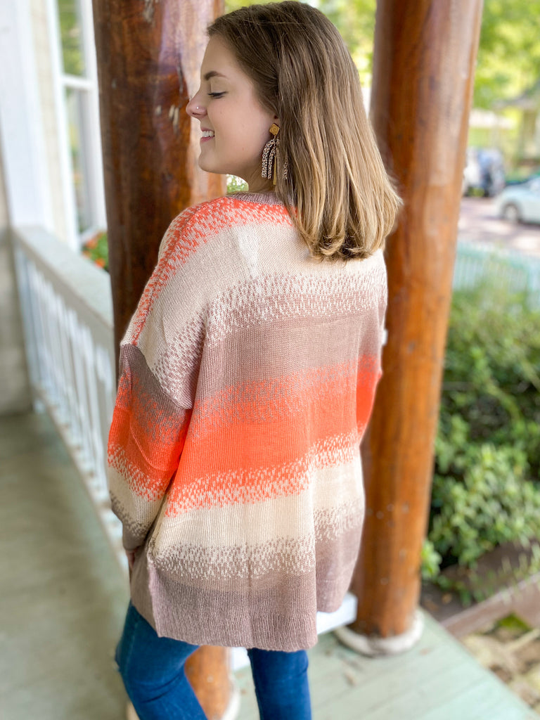Shades of Color Sweater Top