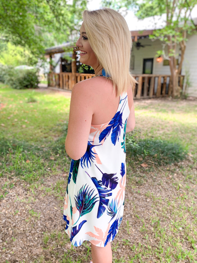 Peace Love Cake Remi Dress: Tropical Daze