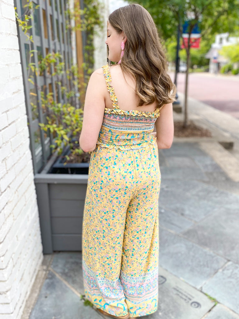 Headed To The Tropics Smocked Jumpsuit