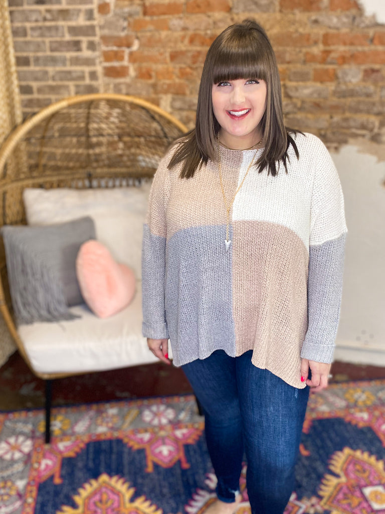 Feelin' Fine Sweater: Taupe
