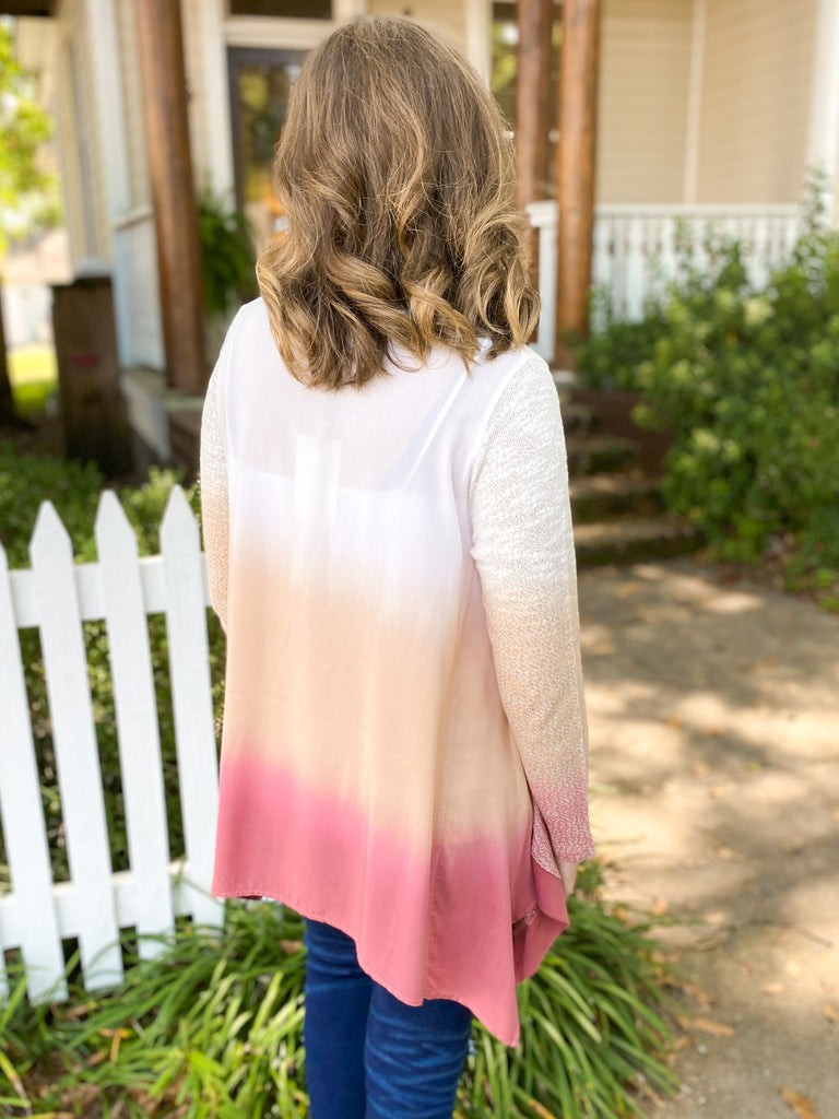 Ombre' Long Sleeve Sweater Top