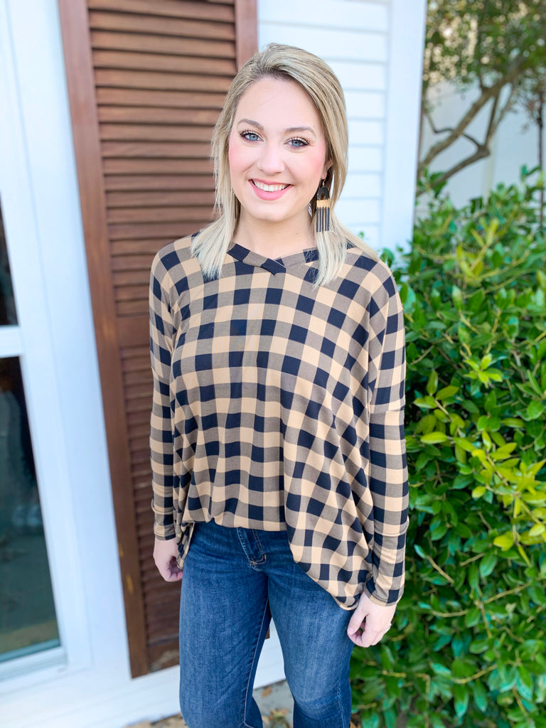 Oversized Check Tunic