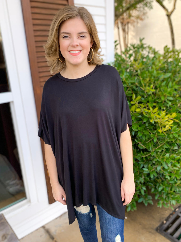Peace Love Cake Ezra Tunic: Black