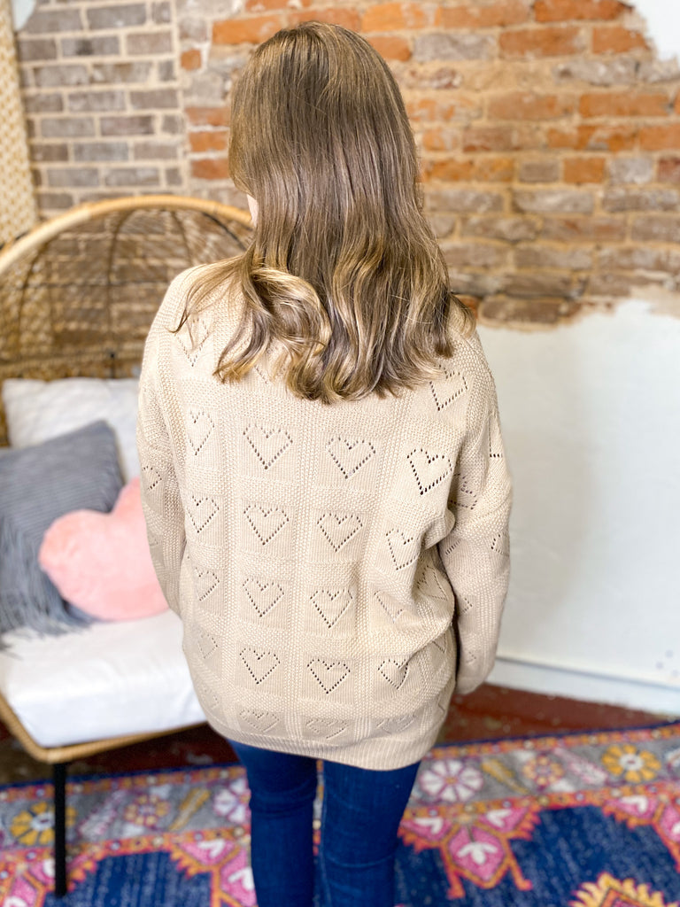 Be Mine Cut Out Heart Sweater