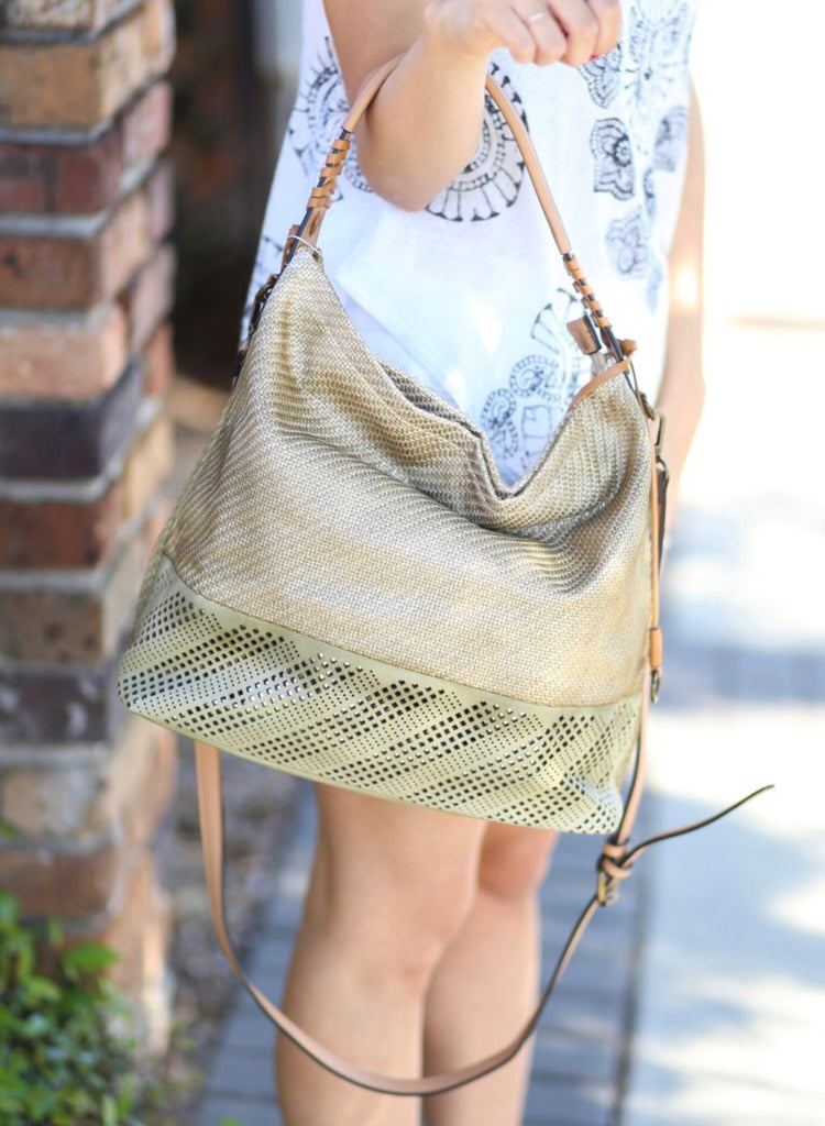 Mariska Woven Hobo with Cutout Bottom: Natural