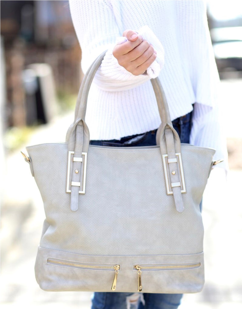 Remington Perforated Tote: Fog