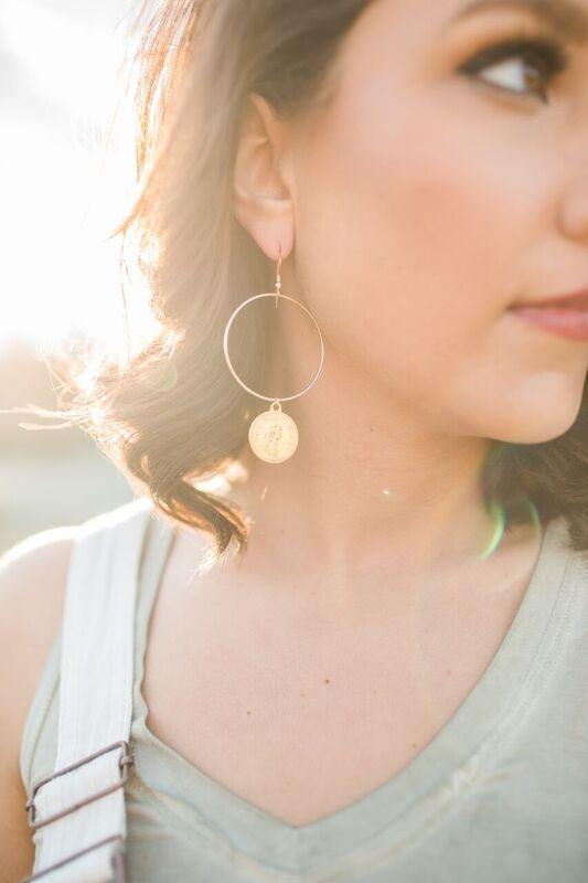 Love Poppy Gold Coin Earrings
