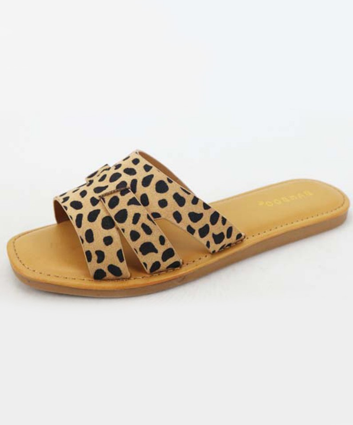 Slide Sandal: Cheetah