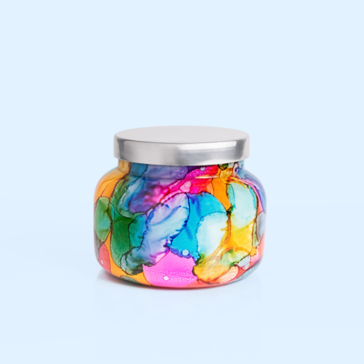 Capri Blue Rainbow Watercolor Signature Jar: Volcano