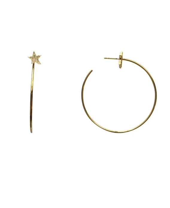Love Poppy: Thea Star Hoop