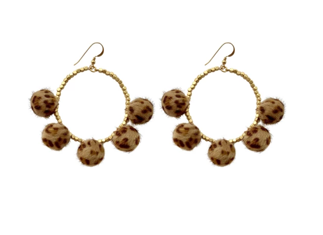 Love Poppy Pom Earring: Wild Side