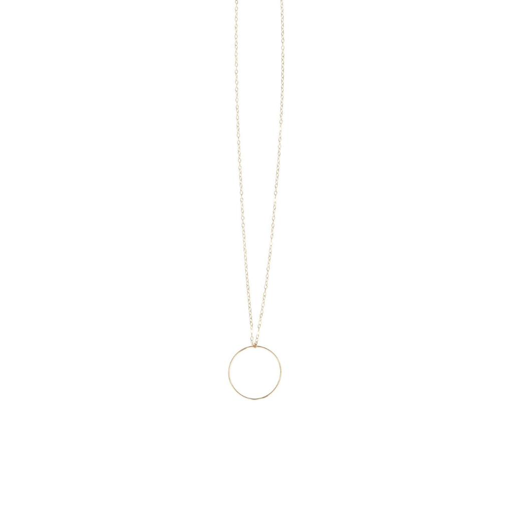 Love Poppy Long Hoop Necklace
